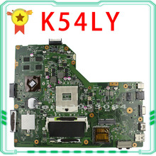 Free Shipping For ASUS motherboard K54LY USB3.0 1GB HM65 X54HR K54HR X54H laptop Mainboard work perfect