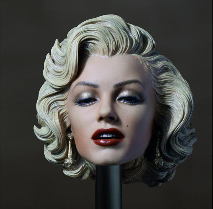 New 1:6 Scale Marilyn Monroe Female Head Sculpt  For Female Phicen 1/6 Female Action Figure Body<br>