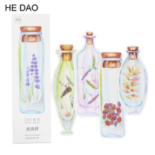 30 Pcs/box Glass Bottle Paper Bookmark Stationery Bookmarks Book Holder Message Card School Supplies Papelaria