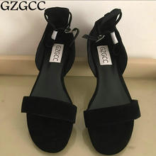 GZGCC 2017 hot summer leisure female sandals comfortable leather women shoes(China)