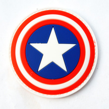 1 PC Patch Captain America Patches PVC Tactical 3D Patches The Avengers Badges Fabric Armband stickers Military