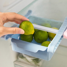 ISHOWTIENDA 1PC 15 * 12.3 * 5cm Slide Refrigerator Space Saver Organizer Freezer Storage Box Shelf Holder Drawer(China)