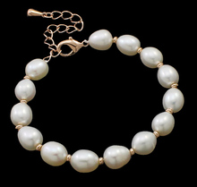 YYW Freshwater Cultured Pearl Bracelet,hot sale, Freshwater Pearl, brass lobster clasp, with 5.5cm extender chain