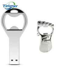 2017 Hot sale Beer bottle opener key chain usb flash Drive Memory Stick Drives64GB 8GB 4GB usb /pen / car/flash Free Shipping