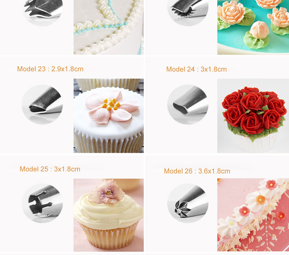 MAY FIFTEENTH Cake Decorating Tools 31pcs Pastry Bag Nozzles Piping Icing cream Piping Nozzle Pastry for Cake Cupcake Decoration (7)