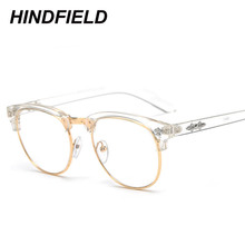 Korean Fake Glasses Frames Women Transparent Oculos Clear Reading Glasses for Men Retro Fashion Vintage Optical Frame Eyeglasses(China)