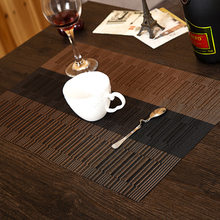 4 Pcs/lot Irregular weave Placemat fashion pvc dining table mat disc pads bowl pad coasters personality slip-resistant pad
