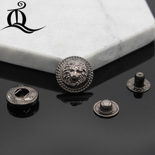 Buy 10pcs lion Brass Snap Fastener Press Stud Rivet 831 Type Sewing Leather Button Craft Clothes Garment DIY Accessories for $3.03 in AliExpress store
