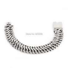 (22.5cm*20mm ) 316L manufacturers selling high polished stainless steel men's fashion curb Cuban Bracelet(China)