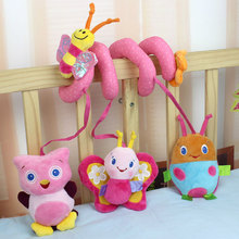 Baby Toy crib revolves around rattles stroller bed car lathe hanging playing toy plush infant Child new born Mobile 0-12 months(China)