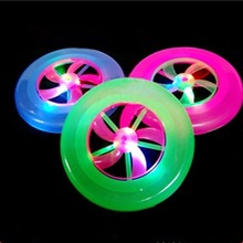 Colorful Spin LED Light Outdoor Toy Flying Saucer Disc Frisbee UFO Kid Toy Educational UFO Children Beach toys Random Color