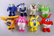 8Styles Super Wings Mini Planes Jett Dizzy Paul cotton plush  Toys Soft Cotton Stuffed Dolls Toys Christmas gift for child