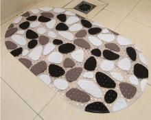 Simple colorful stone pattern antibacterial Bathroom PVC Bath Mats 69X39cm