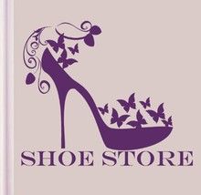 Shoe Store Vinyl Wall Decal Women's Fashion Shoes Girls Fashion Mural Art Wall Sticker Shoe Shop Beauty Shop Window Decoration(China)
