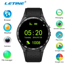 Letine Kingwear KW88 Android Smart Watch MTK6580 Waterproof Wrist Watch Cell Phone Touch Clock with WiFi Camera GPS PK KW18 K88h