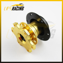 Snap off quick release steering wheel boss kit fit momo omp s parco boss kits quick release gold