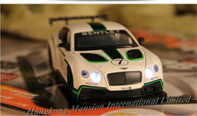 1:32 Scale Diecast Alloy Metal Luxury Racing Car Model For Bentley Continental GT3 Collection Model Toys Car With Sound&Light