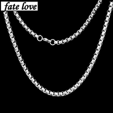 2017 link chain men necklace stainless steel man jewelry accessories fashion gift hip hop necklaces silver cheap price collier(China)