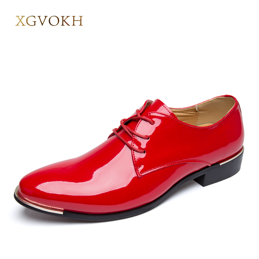 Mens Shoes Dress glossy white flat wedding shoes patent leather casual Solid luxury brand Italy brand oxfords shoes for men <br>