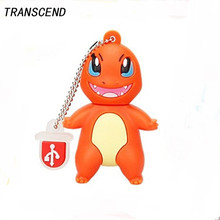 Transcend Pikacho Carton usb2.0 flash drive 4GB 8GB 16GB 32GB 64GB USB pen drive flash drive memory stick U disk company gift(China)