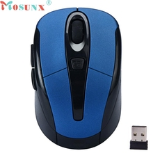 Mosunx Portable 2.4G Wireless Optical Mouse Mice For Computer PC Laptop Gamer Up to 10 Meters of Operating Distance(China)
