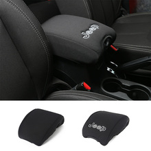 High Quality Center Console Armrest Cushion Pad Trim Guard Cover With Logo for Jeep Wrangler 07 up