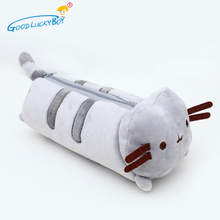 1pcs Kawaii Stuffed Pusheen Cat Plush Toy 24cm Pusheen Cat Cute Pencil Case Pen Bag School Supplies Animal Doll for Children