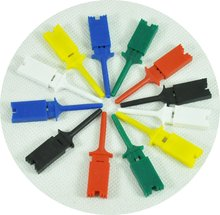 O025-1 logical analyzer 12pcs mini grabber SMD IC Chip test hook clip jumper probe FREE SHIPPING(China)