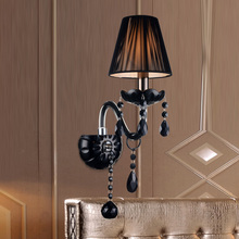 Modern Crystal Wall Lamp Bathroom Bedside Cabinet Aisle Lamp Indoor Wall Lights 1 Arms