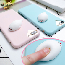 Buy KISSCASE Squishy Phone Case iPhone 7 6 6s Plus 3D Cute Phone Cover Soft Silicone Marshmallow Cases iPhone 5 5S SE Shell for $2.05 in AliExpress store