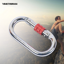 YINGTOUMAN Hiking Spring Carabiner Snap Hook Hanger Keychain Buckle Rope Buckle Hiking Accessories Safety Protection Hook(China)