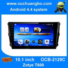 Ouchuangbo android 4.4  in dash dvd radio for Zotye T600 with gps navi 3g wifi bluetooth Support Russian