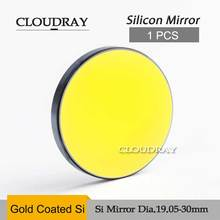 Cloudray Si Gold Mirror Laser Plano Mirror Diameter 20 25 30 38.1mm  Coated For CO2 Laser Engraving Cutting Machine