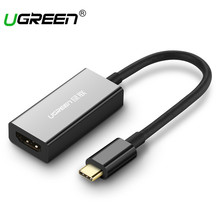 Ugreen USB Type-C HDMI Cable 4K Ultra HD USB C HDMI Male to Female for MacBook Samsung Galaxy S8 Huawei Mate 10 USB-C HDMI(China)