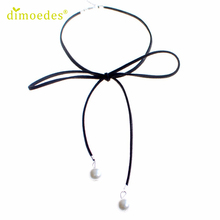 Diomedes Gussy Life Wholesale Women Simple Bow Clavicle Chain Necklace Collar Choker Jewelry Pendant Feb14