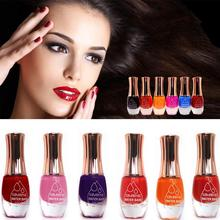 Fashion 12 Colors Water-based 12ml Non-toxic Tasteless green protection Nail Polish Can Tear Armor Oil Peelable(China)