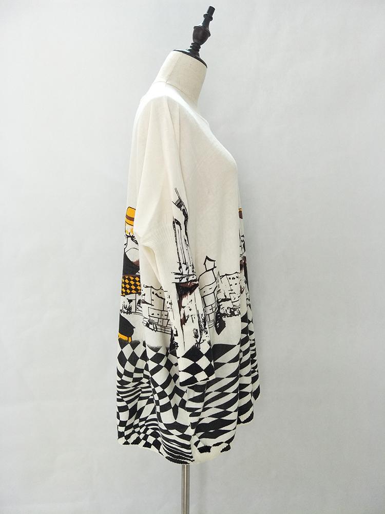 Avara lõikega pikk pildiga sviiter