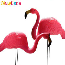 Free Shipping Great Flamingo Theme Parties Mediterranean-style Dessert Table Ornaments Outdoor Garden Decoration Pictures Props