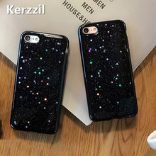 Kerzzil Case For iPhone 7 6s Plus Colorful Bling Shining Stars Soft Crystal Clear TPU Silicone Cover For iPhone 6 6S Plus Back(China)