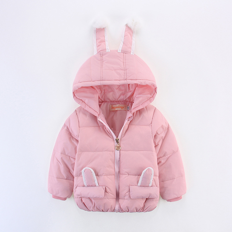winter baby girls coats padded White Duck Down jacket girl infant outerwear girls wadded coat brand down coat cartoon rabbitОдежда и ак�е��уары<br><br><br>Aliexpress