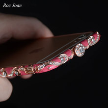 Buy Luxury Bling Diamond Glitter Crystal Rhinestone Metal Bumper Case Iphone 6 6S 7 Plus Tempered Glass Screen Protector for $7.24 in AliExpress store