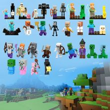 Legoing Stray Minecrafted экшн-Крипер Ocelot фигурки блоки Enderman Alex Villager My World Baby Zombie Pigman Legoings игра(China)