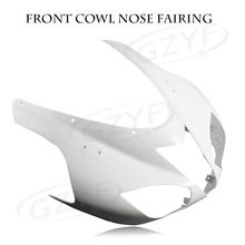 Motorcycle Unpainted Upper Front Fairing Cowl Nose for KAWASAKI NINJA ZX6R 2007-2008 ZX-6R, ABS Plastic(China)