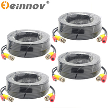 EINNoV 4 Pack 5M/10M/18M/30M CCTV Cable BNC Video Power Cable for Wire AHD Camera and DVR Surveillance System Accessories