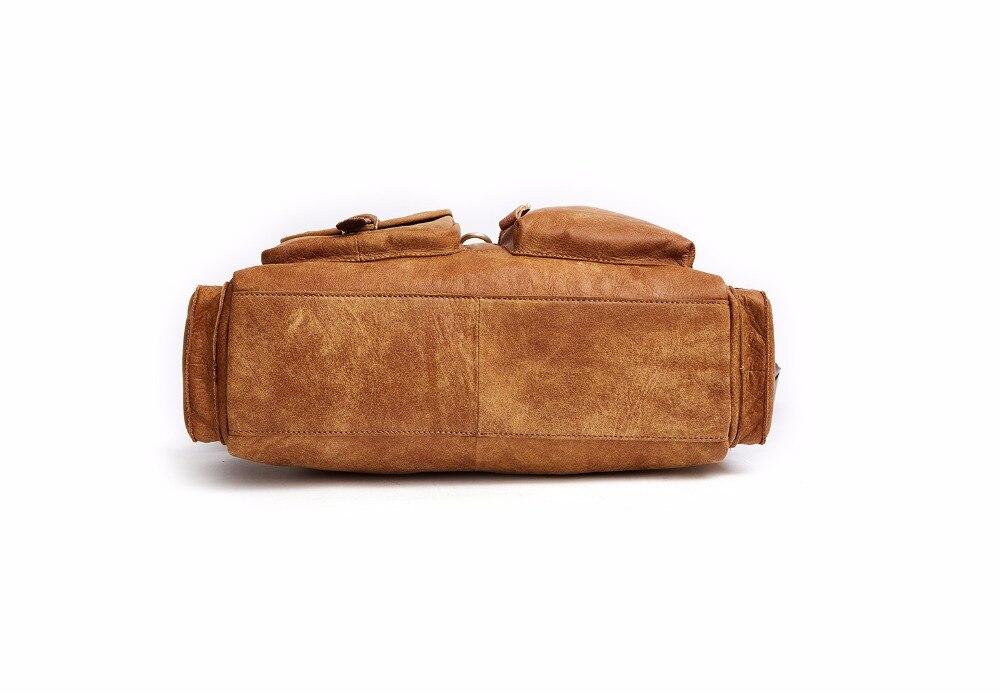 [DUDINI] Men Casual Briefcase Business Shoulder Bag Computer Laptop Handbag Bag Genuine Leather Messenger Bags Men's Travel Bags