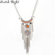 Match-Right Women Necklace Vintage Statement Necklaces Pendants Tassel Jewelry Ethnic Necklace Women Accessories  NL573