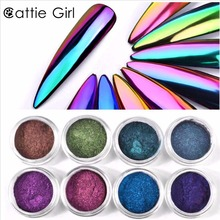 0.5g Mirror Nail Glitter Chameleon Pigment Powder Dust Manicure Nail Art Glitter Chrome Unicorn Pearl Powder Decorations