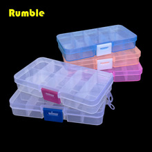 1pcs Portable Practical DIY Tools Packaging Box 10 Grids Slots Electronic Spare Part Removable Storage Screw Jewelry Tool Case