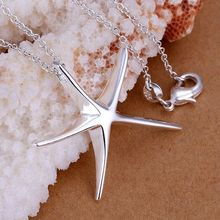 P027_2 Hot sale fine silver plated jewelry,Wholesale Factory price charms free shipping fashion Sea Star pendants/a