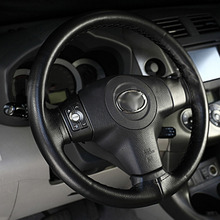New Car Auto Super Fiber Leather Steering Wheel Cover With Needle and Thread Black  hot selling